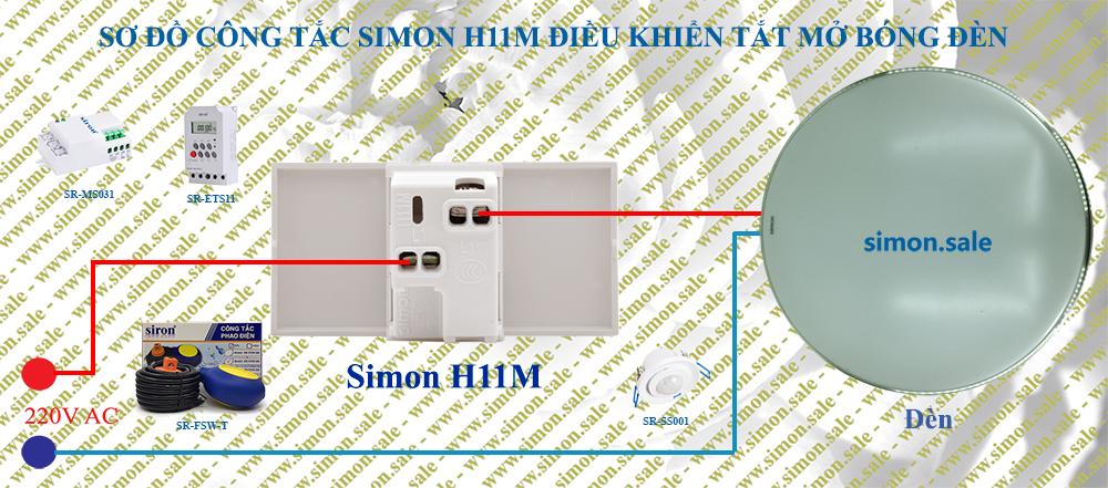 Thiết bị điện Simon công tắc một chiều cỡ XL cao cấp lắp đế chữ nhật H11M