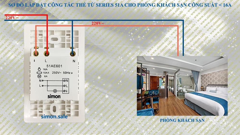 Cách lắp đặt điện công tắc thẻ từ đế chữ nhật dạng đứng chính hãng simon 51AE601